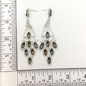 Jewelry - Mystic Topaz Crystal Chandelier Event Earrings
